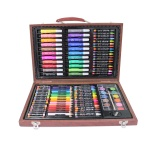 kids Drawing set in wooden box